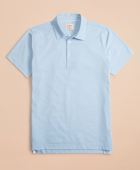 Jersey Performance Polo Shirt Chambray-Blue