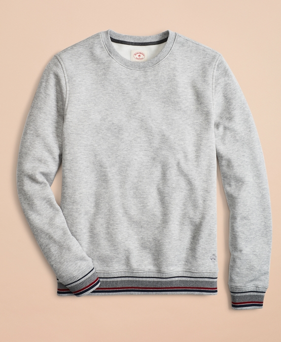 Pique Fleece Crewneck Sweatshirt Heather-Grey