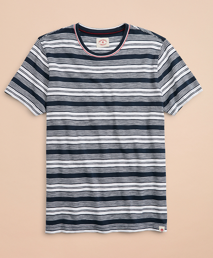 Multi-Stripe Slub Cotton Jersey T-Shirt