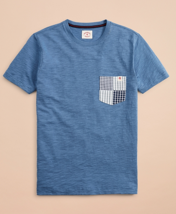 Slub Cotton Jersey Pocket T-Shirt Blue