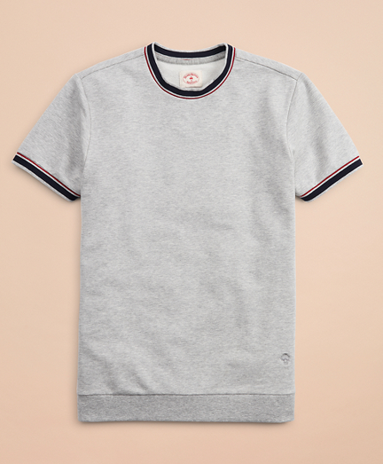 French Terry Short-Sleeve Contrast Sweatshirt