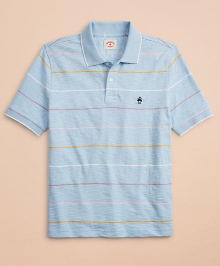 Striped Slub Cotton Jersey Polo