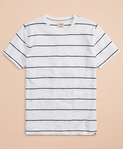 Striped Slub Cotton Jersey T-Shirt