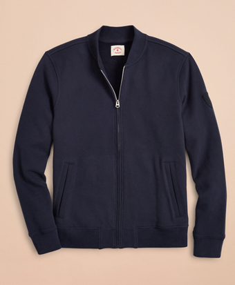 French Terry Bomber Sweater Jacket