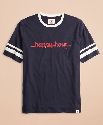 Happy Hour Graphic Ringer T-Shirt