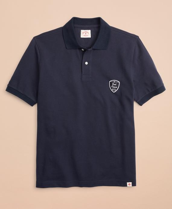 Pique Patch Polo Shirt Navy