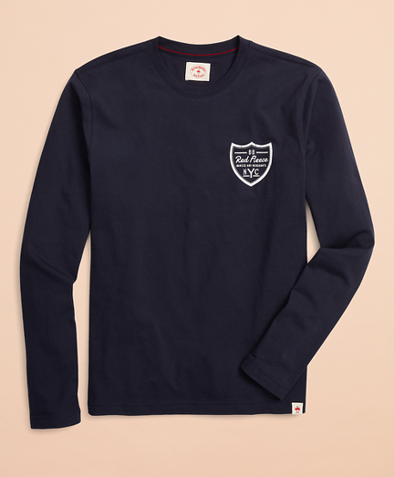 Red Fleece NYC Graphic Long-Sleeve T-Shirt