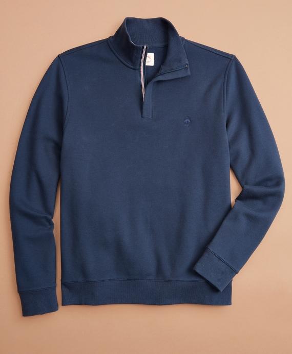 Pique Half-Zip Fleece Navy