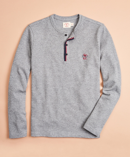 Double-Knit Jacquard Henley