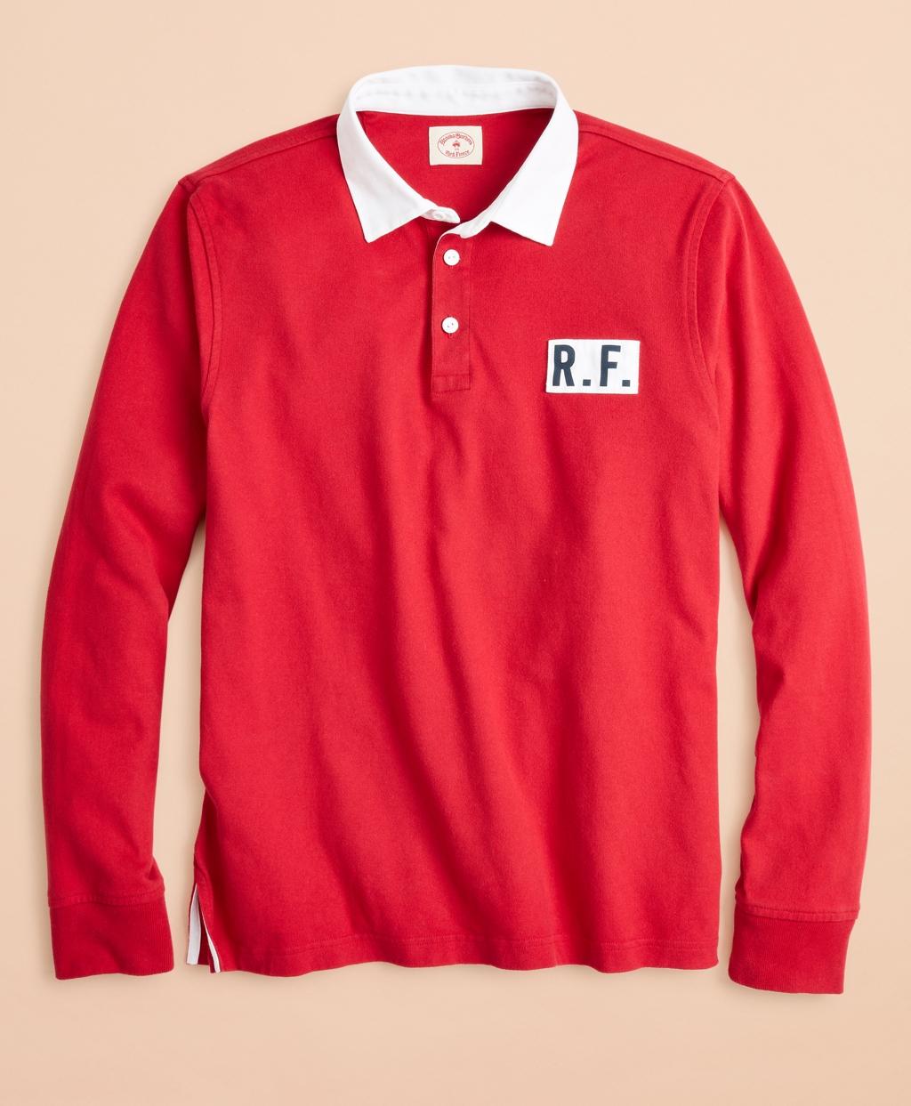 Cotton Jersey Logo Rugby Shirt Brooks