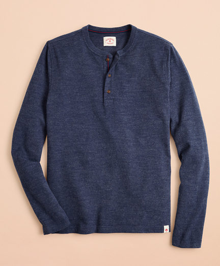 Cotton Jersey Long-Sleeve Henley