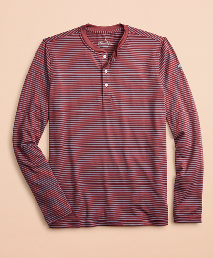 Performance Series Striped Long-Sleeve Henley
