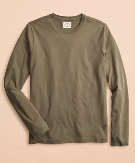 Garment-Dyed Cotton Jersey Long-Sleeve T-Shirt