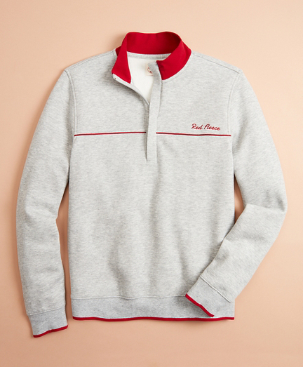 Half-Zip Pique Sweater