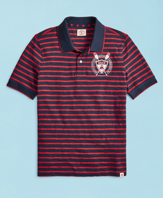 2019  Head Of The Charles® Regatta Striped Polo Shirt Red-Navy