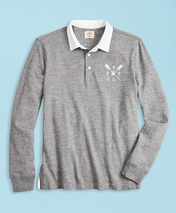 2019  Head Of The Charles® Regatta Cotton Jersey Rugby Shirt Grey