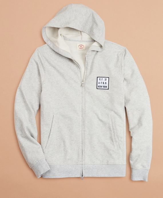 French Terry Zip-Up Hoodie Grey