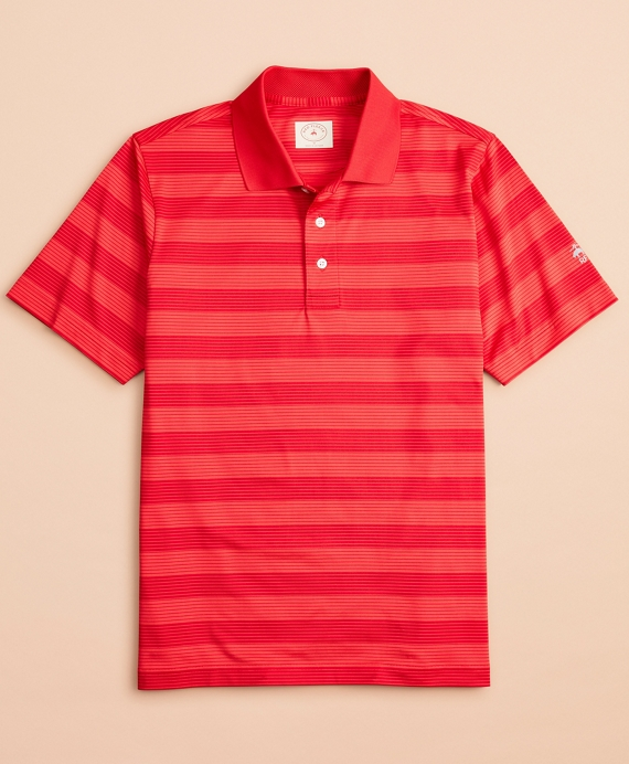 Performance Series Striped Polo Shirt Red