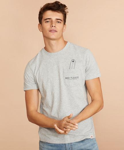 Cotton Surfboard Pocket T-Shirt