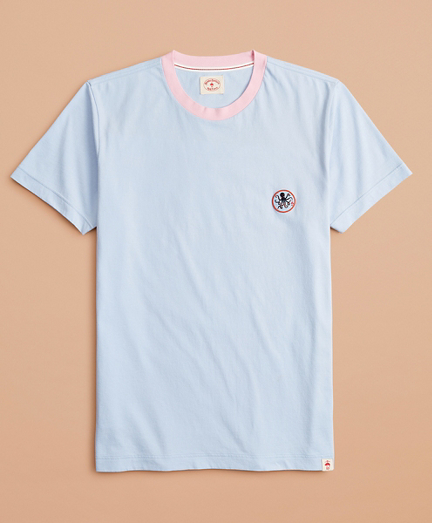 Cotton Octopus Patch T-Shirt
