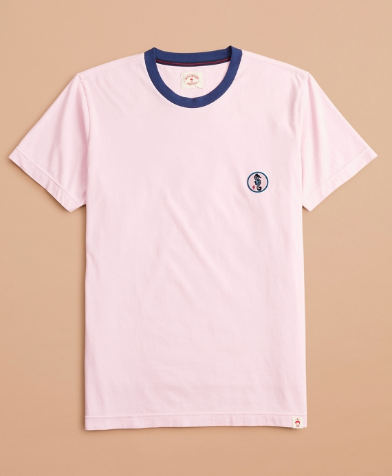 Cotton Seahorse Patch T-Shirt Rose