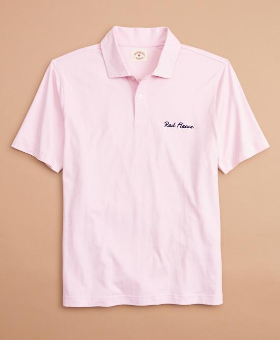 Cotton Logo Polo Shirt Rose