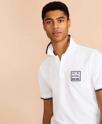 Cotton Pique Patch Polo Shirt