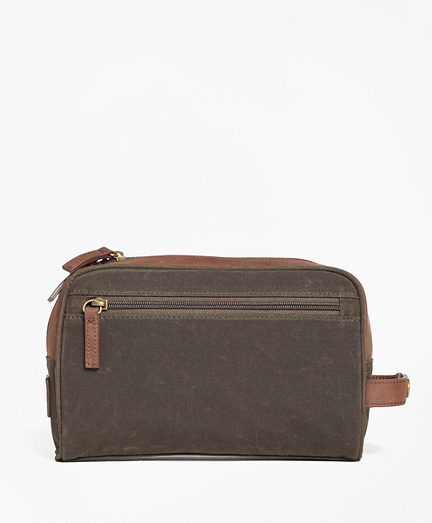 Waxed Canvas & Leather Dopp Kit