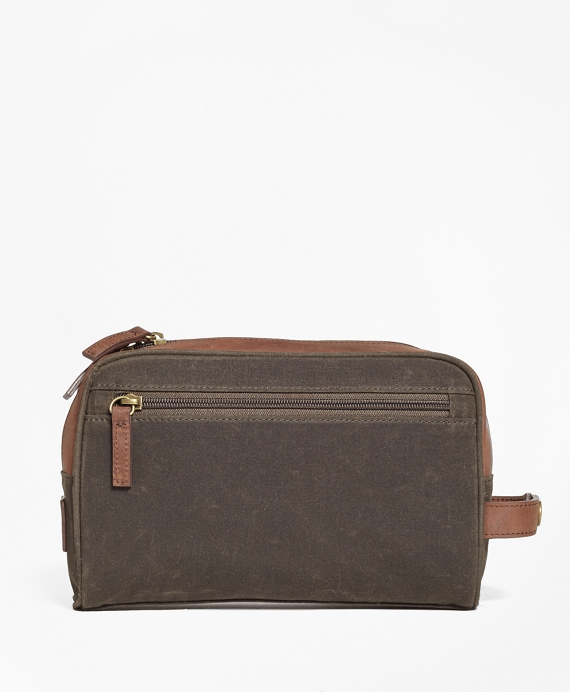 bfa57b984a2f Waxed Canvas   Leather Dopp Kit - Brooks Brothers