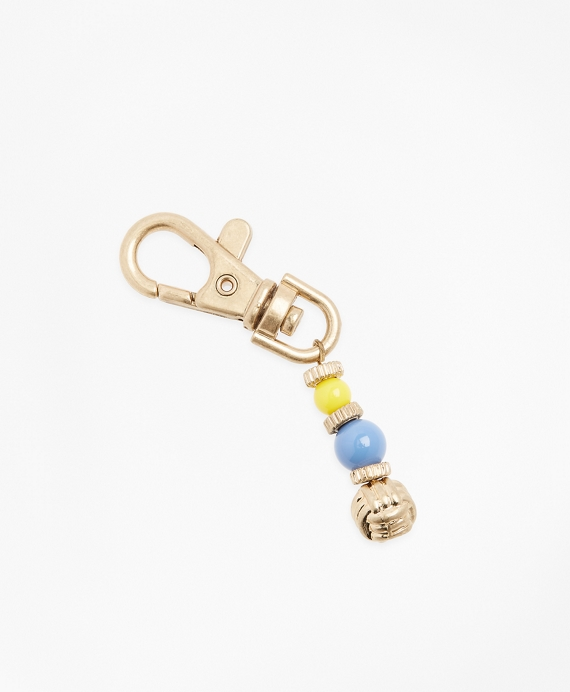 Knotted Metal Key Fob Gold