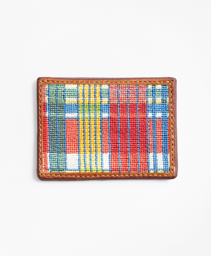 Madras Needlepoint Card Case