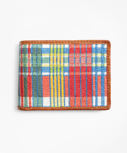 Madras Needlepoint Wallet