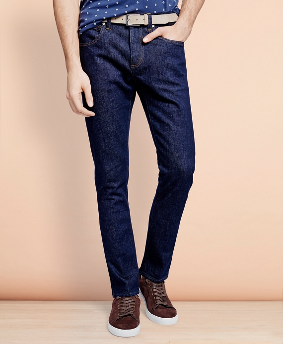 116 Slim Stretch Jeans in Indigo Denim Navy Wash
