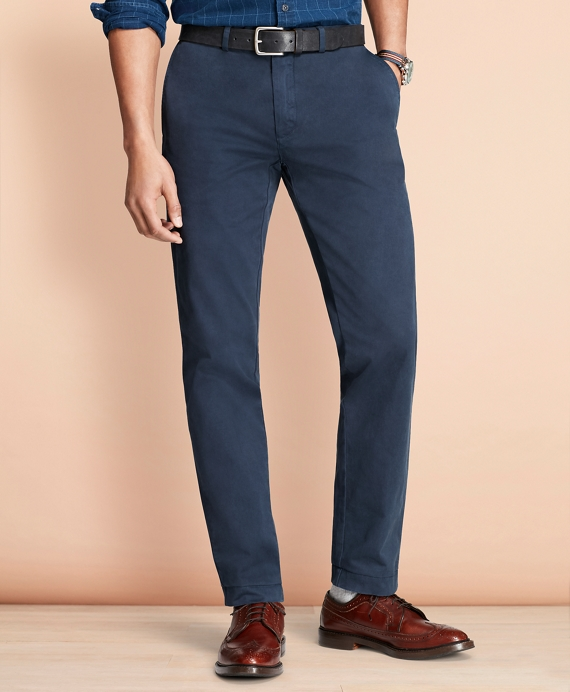 Slim Fit Garment-Dyed Chinos Navy