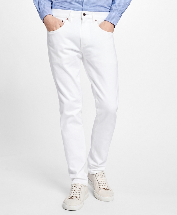 116 Slim Fit White Denim Jeans White