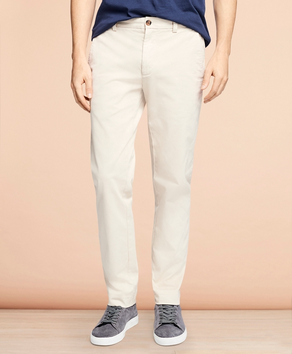 Garment-Dyed Stretch Chinos Oatmeal