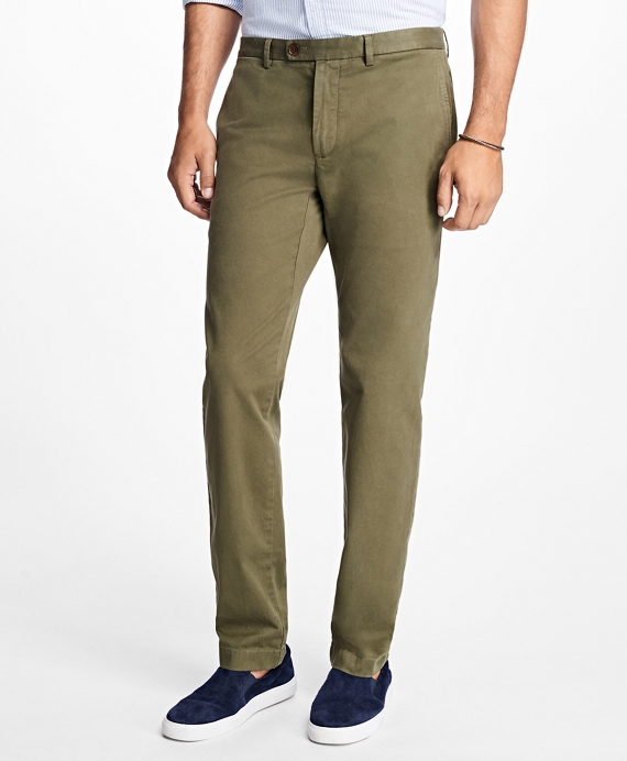 Slim Fit Garment Dyed Stretch Chinos Brooks Brothers