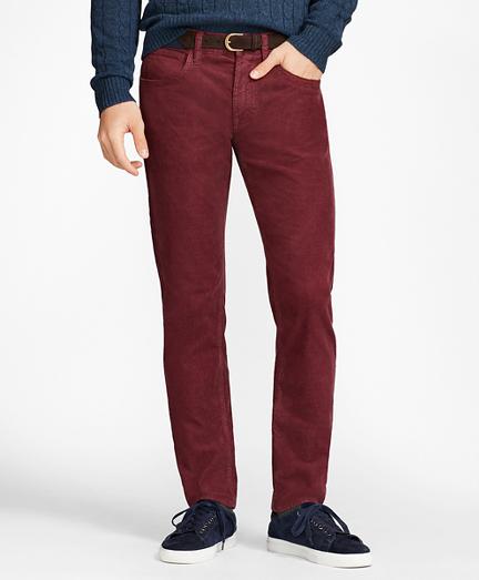 Garment-Dyed 15-Wale Stretch Corduroy Pants