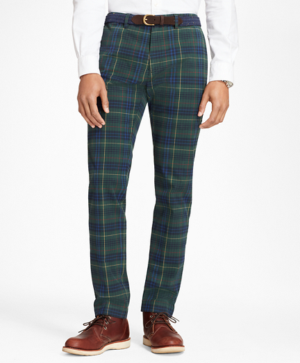 Slim-Fit Stewart Hunting Tartan Brushed Cotton Twill Chinos