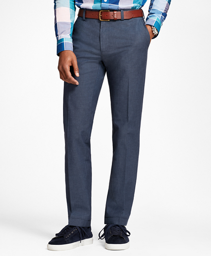 Stretch-Cotton End-On-End Pants