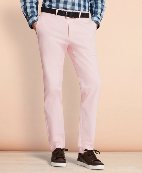 Slim-Fit Garment-Dyed Stretch Chinos Rose