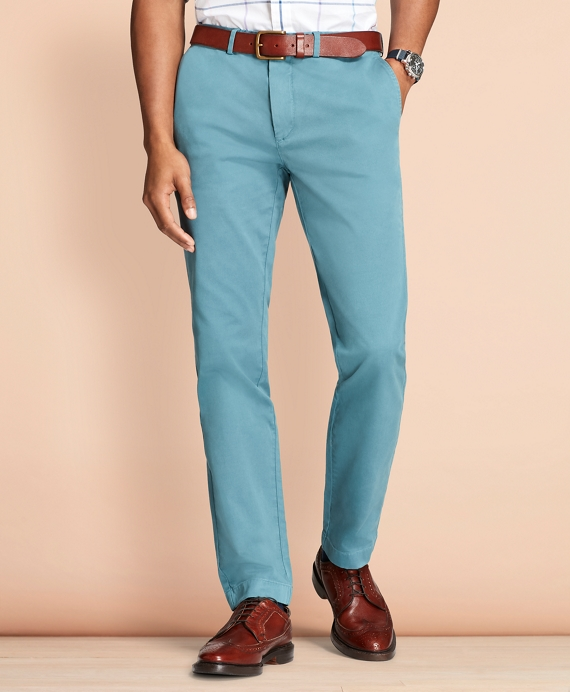 Slim-Fit Garment-Dyed Stretch Chinos Teal
