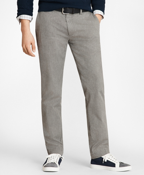 Pinstriped Twill Chinos Grey