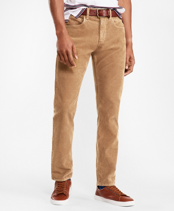 Garment Dyed Five-Pocket Corduroys Tan