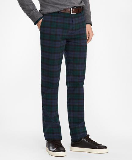 Black Watch Tartan Cotton Chinos