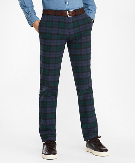 Slim Black Watch Tartan Cotton Chinos