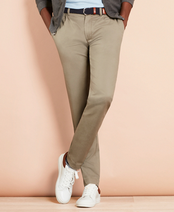 Pleated-Front Chinos