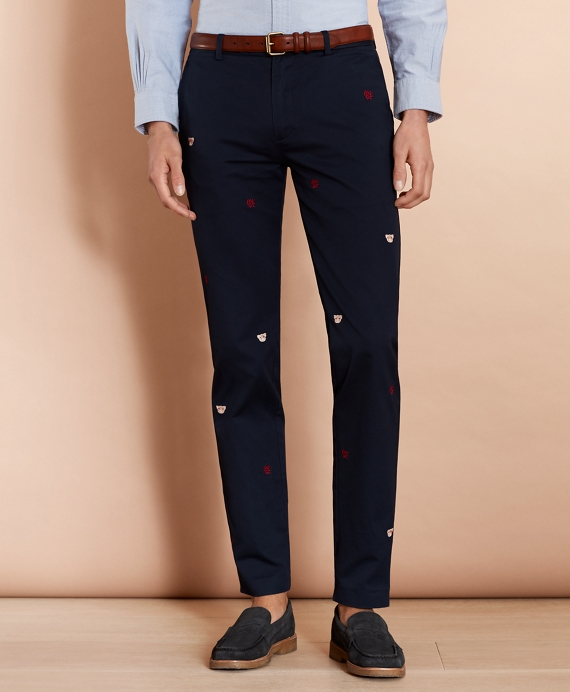 Year of the Pig Slim-Fit Chinos Navy