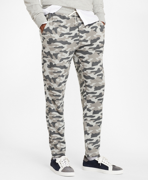 French Terry Camo Sweatpants Grey