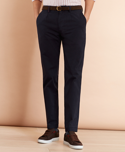 Pleat-Front Twill Chinos
